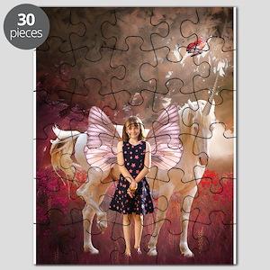 Fairy Girl And Unicorn Puzzle