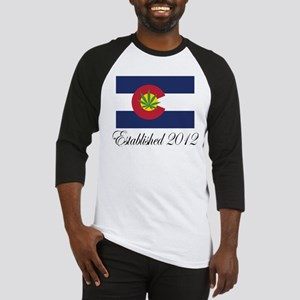 Colorado Cannabis Flag 2012 Baseball Jersey