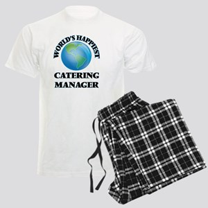 World's Happiest Catering Man Men's Light Pajamas
