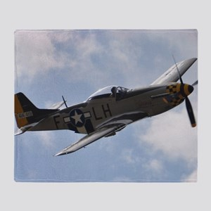 P-51D Mustang Throw Blanket