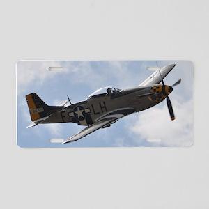 P-51D Mustang Aluminum License Plate