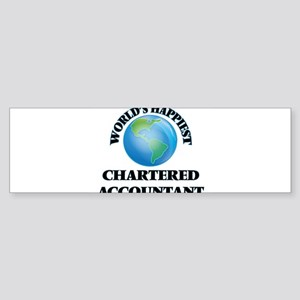World's Happiest Chartered Accounta Bumper Sticker