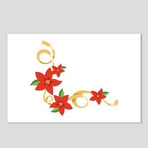 Christmas Poinsettia Postcards (Package of 8)