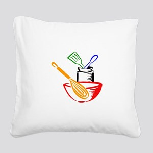 COOKING UTENSILS Square Canvas Pillow