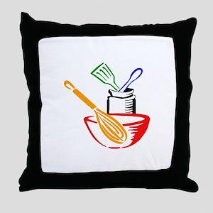 COOKING UTENSILS Throw Pillow
