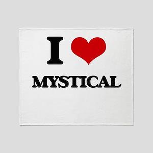 I Love Mystical Throw Blanket
