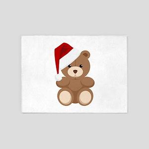 Christmas Teddy 5'x7'Area Rug