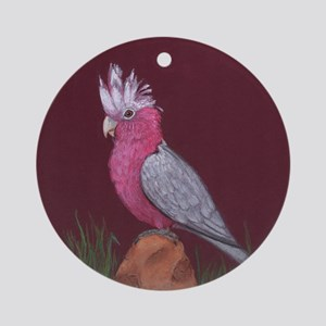 Rose Breasted Cockatoo Ornament (Round)