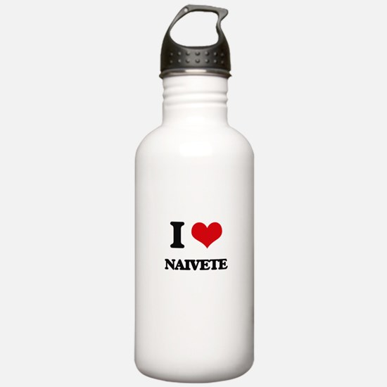 I Love Naivete Water Bottle