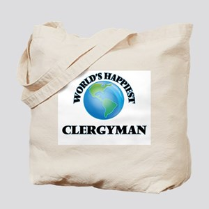 World's Happiest Clergyman Tote Bag