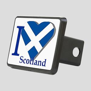 I Love Scotland Rectangular Hitch Cover