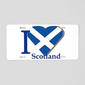 I Love Scotland Aluminum License Plate