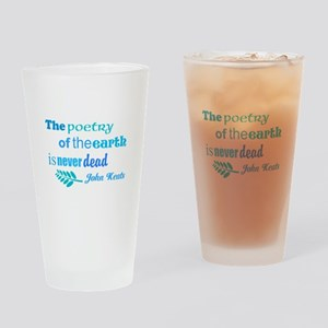 Earth Poem Drinking Glass