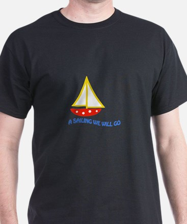 SAILING WE WILL GO APPLIQUE T-Shirt