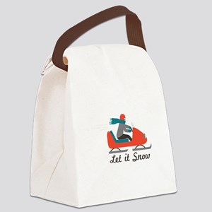 Let It Snow Canvas Lunch Bag