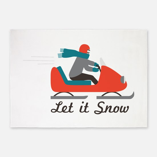 Let It Snow 5'x7'Area Rug