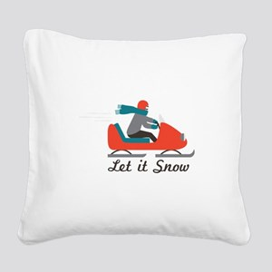 Let It Snow Square Canvas Pillow