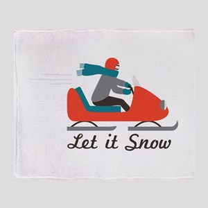 Let It Snow Throw Blanket