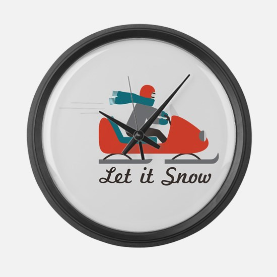 Let It Snow Large Wall Clock