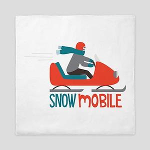 Snow Mobile Queen Duvet