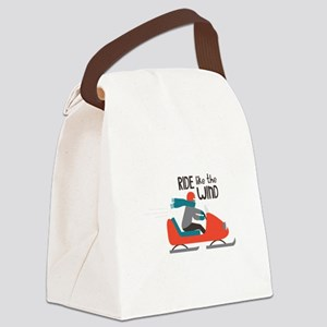 Ride Like The Wind Canvas Lunch Bag