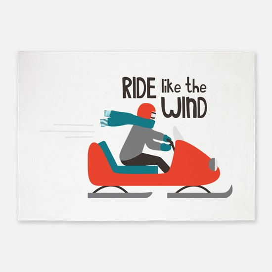 Ride Like The Wind 5'x7'Area Rug