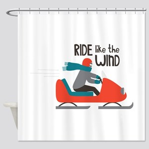 Ride Like The Wind Shower Curtain