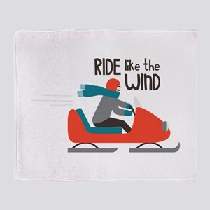Ride Like The Wind Throw Blanket