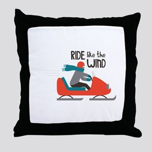 Ride Like The Wind Throw Pillow