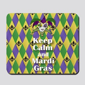 Keep Calm and Mardi Gras Mousepad
