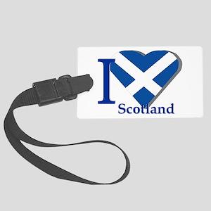 I Love Scotland Large Luggage Tag