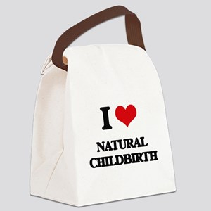 I Love Natural Childbirth Canvas Lunch Bag