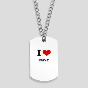 I Love Navy Dog Tags