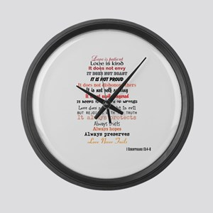 1 Corinthians 13 Large Wall Clock