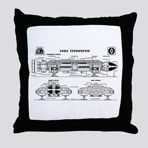 Space: 1999 - Eagle Transporter Throw Pillow