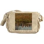 Coot on Pond Messenger Bag