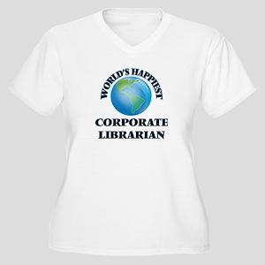 World's Happiest Corporate Libra Plus Size T-Shirt