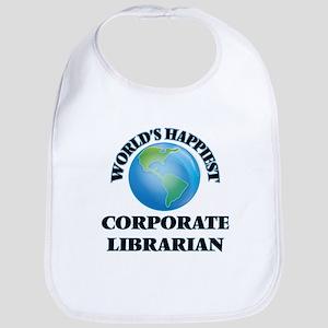 World's Happiest Corporate Librarian Bib