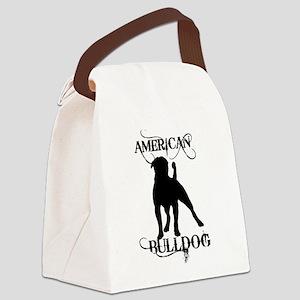 ab_black Canvas Lunch Bag