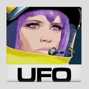 Moonbase Girl UFO SHADO Tile Coaster