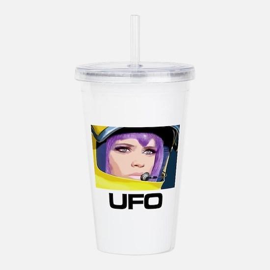 Moonbase Girl UFO SHAD Acrylic Double-wall Tumbler