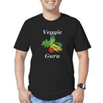 Veggie Guru Men's Fitted T-Shirt (dark)