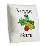 Veggie Guru Burlap Throw Pillow