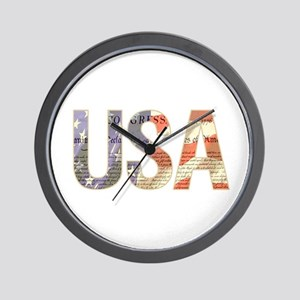 USA Independence Flag Wall Clock