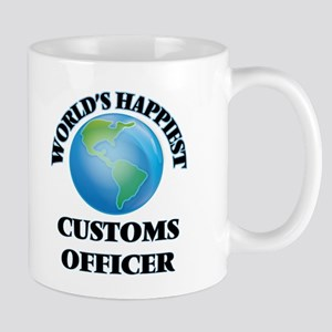 World's Happiest Customs Officer Mugs