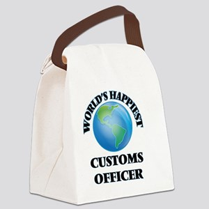 World's Happiest Customs Officer Canvas Lunch Bag