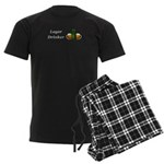 Lager Drinker Men's Dark Pajamas
