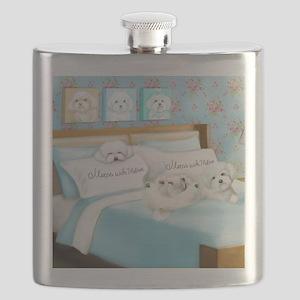 Sleeps with Maltese ByCatiaCho Flask