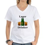Lager Drinker Women's V-Neck T-Shirt