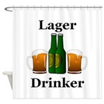 Lager Drinker Shower Curtain